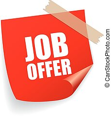 Job offer sticker
