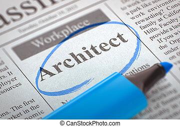 Job Opening Architect.