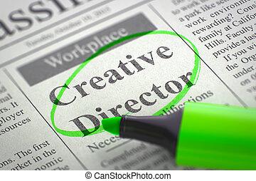 Job Opening Creative Director. 3D.
