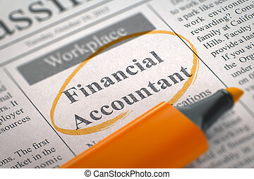 Job Opening Financial Accountant. 3d.