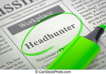Job Opening Headhunter. 3D.