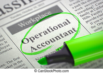 Job Opening Operational Accountant. 3d.