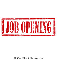 Job Opening-stamp - Grunge rubber stamp with text Job...
