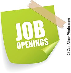 Job openings sticker isolated sign on white background