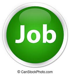 Job premium green round button