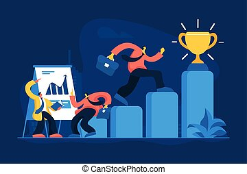 Job promotion flat vector illustration
