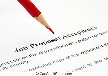 Job proposal acceptance