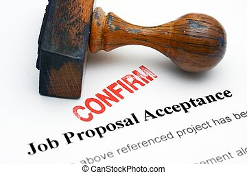 Job proposal - confirm