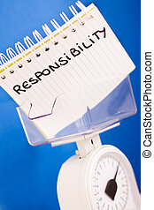 metaphor of balance measuring resposibility