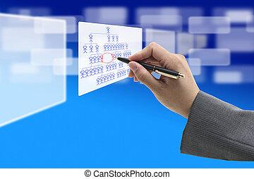 Job rotation Concept - Business Hand Writing Job Rotation on...