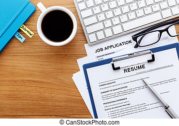 Job Search Background Job Search With Resume And Job Application On