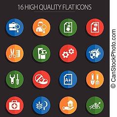 job search 16 flat icons