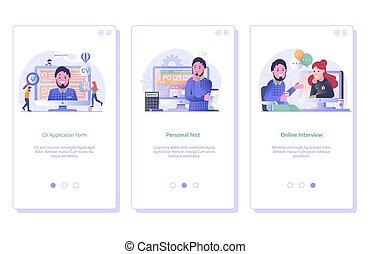 Job Search and Recruitment Process UI Screens - Job ...