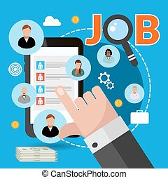 Job search concept for your design eps vector 10