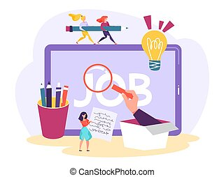 Job search concept. Idea of employment and recruitment