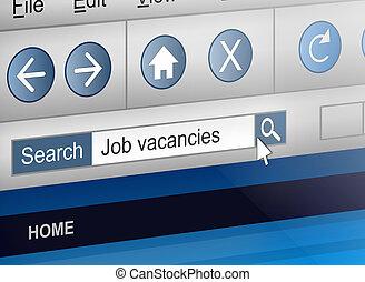 Job search concept.