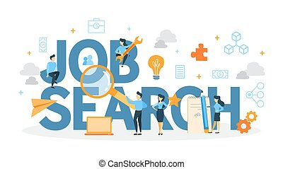 Job search concept. - Job search concept illustration. Idea ...