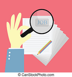 job search - search for job with magnify idea
