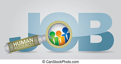 Job search - human resource concept - abstract illustration...