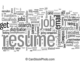 Job Search Is It a Numbers Game text background wordcloud ...