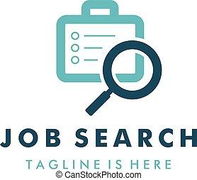 job search logo template design vector illustration