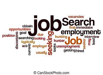 job search seeking employment concept background