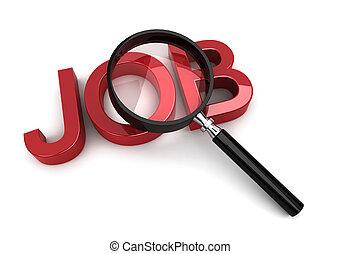 job search - 3d render on white