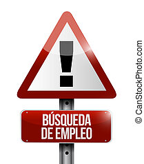 job search warning sign in Spanish