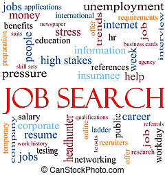 Job Search Word Cloud Concept - An illustration around the...