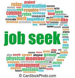 job seek words. Business concept . Word cloud collage