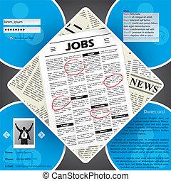 Job seeker's website template design