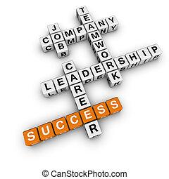 job strategy crossword (blue-white cubes crossword series)