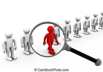 job- suche, und, berufswahl, anstellung, begriff