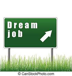 job., traffico, sogno, segno freccia