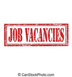 Job Vacancies-stamp - Grunge rubber stamp with text Job...