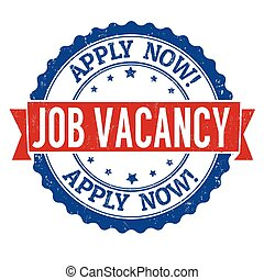 Job vacancy grunge stamp - Job vacancy grunge rubber stamp...