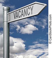 job vacancy