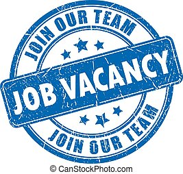 Job vacancy rubber stamp isolated on white background