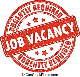 Job vacancy stamp