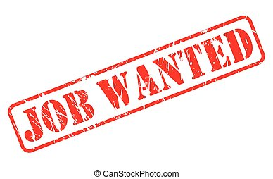 Job wanted red stamp text