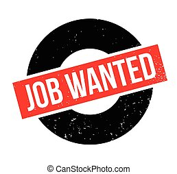Job Wanted rubber stamp