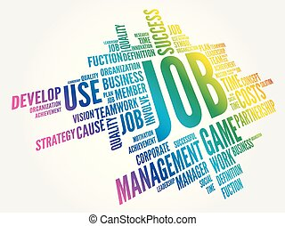 JOB word cloud collage, business concept background