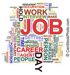 Job word tags - Illustration of Worldcloud word tags of job