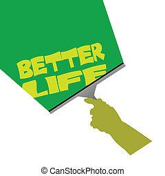 jobb, élet, takarítás, ábra