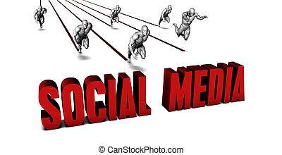 jobb, társadalmi, média