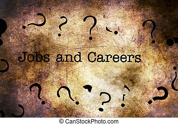 Jobs and careers grunge background