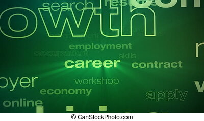 Jobs and Employment Words Loop - Seamless animation loop of...