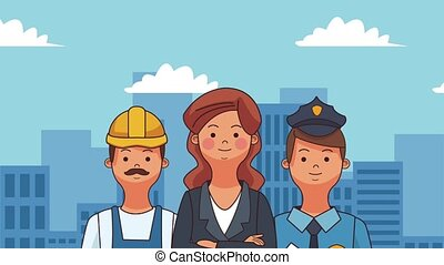 Jobs and professions cartoons HD animation - Businesswoman...
