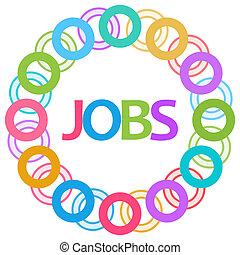 Jobs Colorful Rings Circular