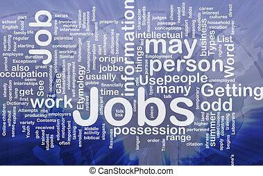 Jobs employment background concept